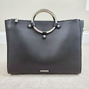 Rebecca Minkoff Ring Leather Satchel, EUC!